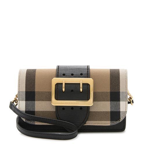 2451ccd2636 ... cozy fresh 5ac6e 7ab5a Burberry Housecheck Bridle Crossbody Bag ...