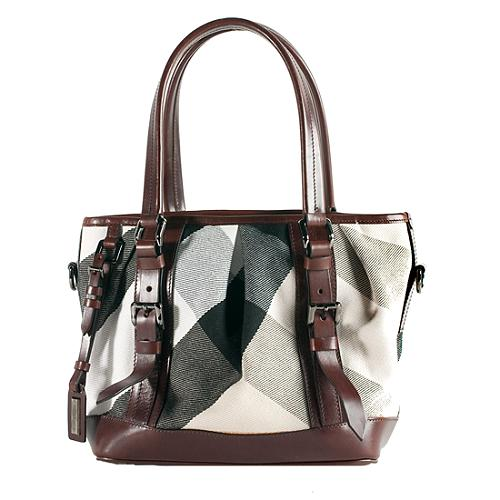 b76999f643d7 Burberry-Large-Canvas-Mega-Check-Lowry-Tote 49784 front large 1.jpg