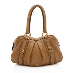 Burberry Leather Ashbury Small Satchel