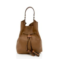Burberry Leather Ashby Large Hobo