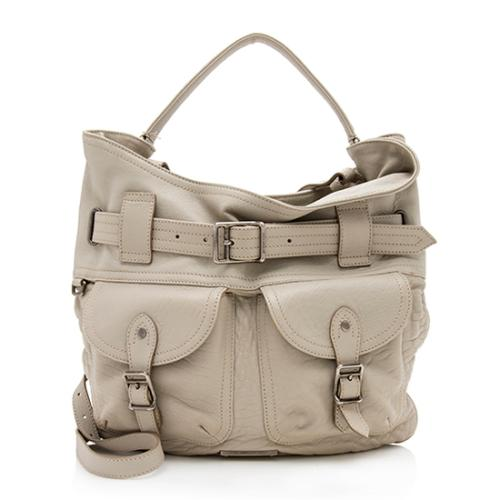 Burberry Leather Belted Hobo