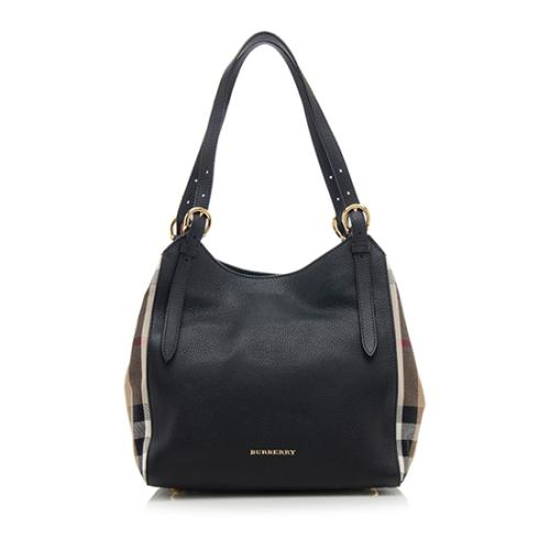 Burberry Leather Derby Canterbury Small Tote