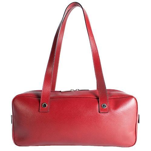 Burberry Leather East/West Satchel Handbag