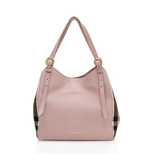 Burberry Leather House Check Derby Canterbury Small Tote