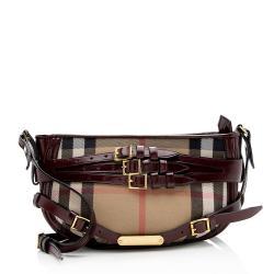 Burberry Leather House Check Langford Crossbody Bag