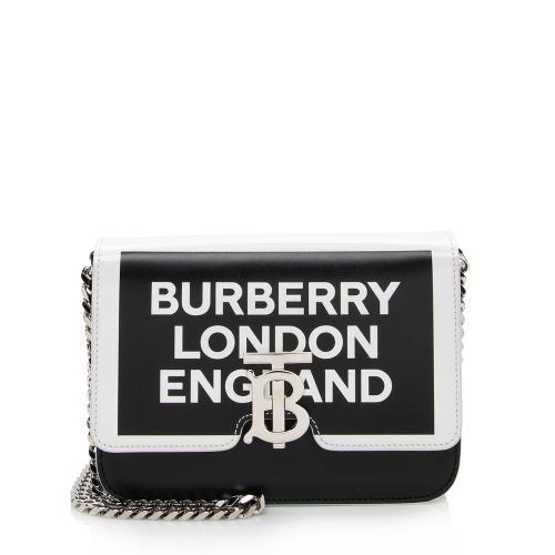 Burberry Leather Logo TB Shoulder Bag