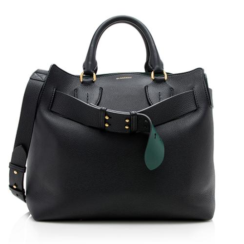 Burberry Leather Marais Medium Belted Tote