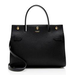 Burberry Leather Medium Title Bag Satchel