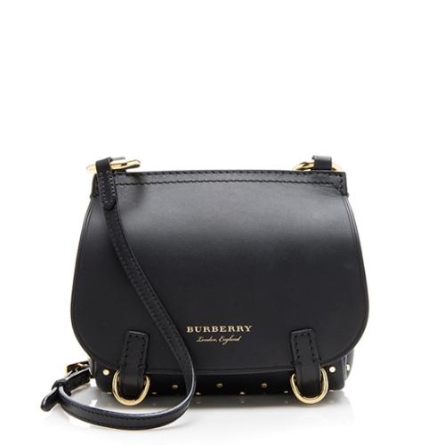 Burberry Leather Riveted Baby Bridle Shoulder Bag