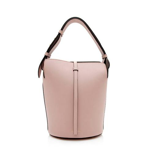 Burberry Leather Small Bucket Bag