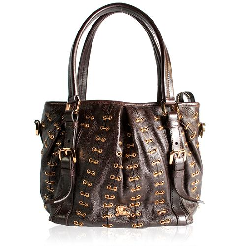 Burberry Lowry Metal Stitched Shoudler Handbag