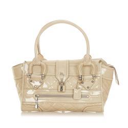 Burberry Manor Patent Leather Handbag