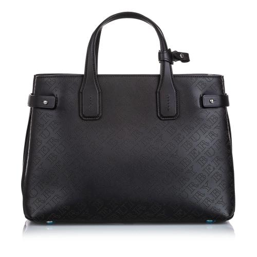 Burberry Medium Perforated Leather Banner Tote