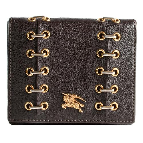 Burberry Metal Stitched Compact Wallet