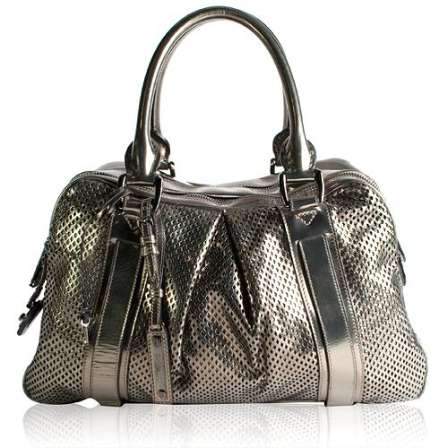 Burberry Metallic Perforated Bowling Tote