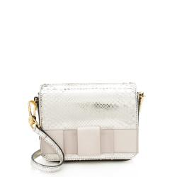 Burberry Metallic Python Berkeley Shoulder Bag