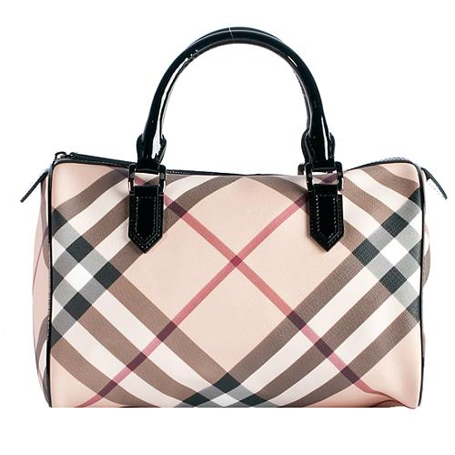 Burberry-Nova-Check-Bowling-Boston-Satchel-Handbag 42439 front large 1.jpg 55e27e34730d5
