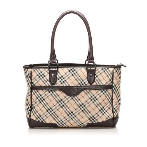 Burberry Nova Check Canvas Handbag