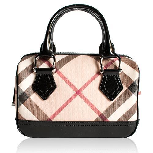 Burberry Nova Check Chester Satchel Handbag