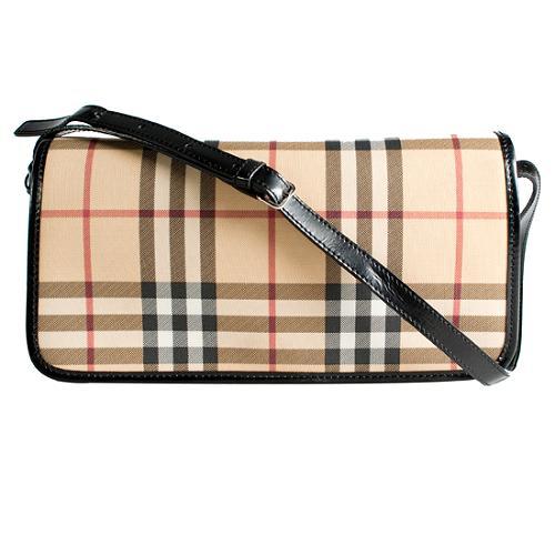 Burberry Nova Check Flap Shoulder Handbag