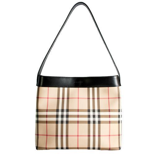 Burberry Nova Check Heath Shoulder Handbag