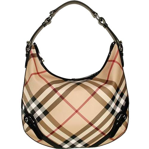 Burberry Nova Check Hobo Handbag - FINAL SALE