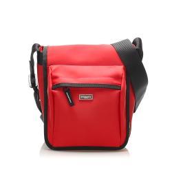 Burberry Nova Check Leather Crossbody Bag