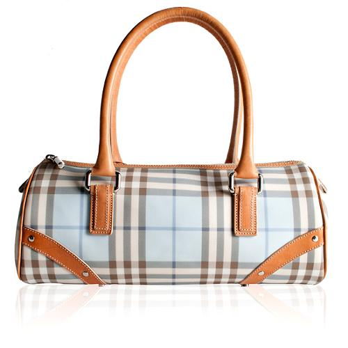 Burberry Nova Check Lola Satchel Handbag