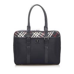 Burberry Nova Check Nylon Business Bag