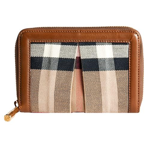 Burberry Nova Check Phoebe Zip Wallet