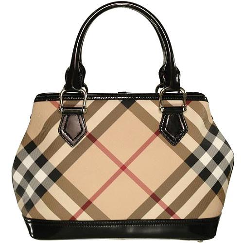 Burberry Nova Check Satchel Handbag - FINAL SALE