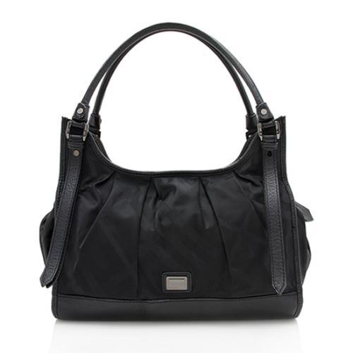 Burberry Nylon Check Ashmore Shoulder Bag