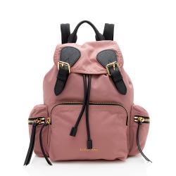 Burberry Nylon Leather Medium Rucksack Backpack