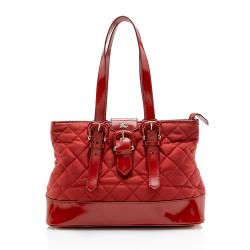 Burberry Nylon Quilted Tote