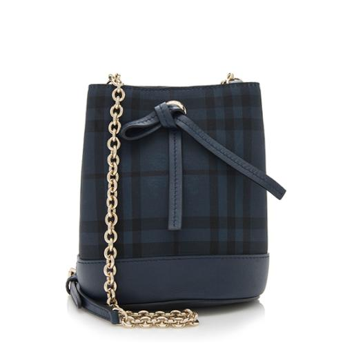 Burberry Overdyed Horseferry Check Canvas Baby Bucket Bag