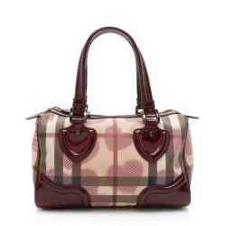 Burberry Painted Hearts Boston Satchel