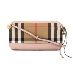 Burberry Leather House Check Abingdon Clutch