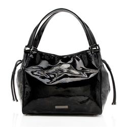 Burberry Patent Leather Bilmore Tote