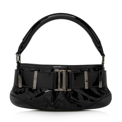 Burberry Patent Leather Buckle Small Shoulder Bag
