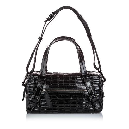 Burberry Patent Leather Cartridge Pleat Shoulder Bag