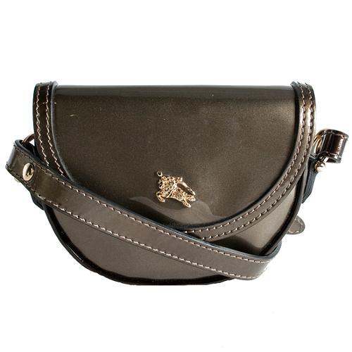 Burberry Patent Leather Mini Shoulder Handbag