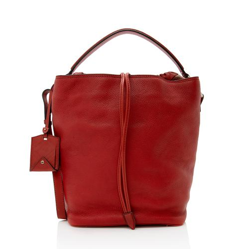 Burberry Pebbled Leather Ashby Large Hobo