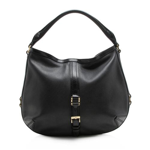 Burberry Perforated Leather Grafton Hobo