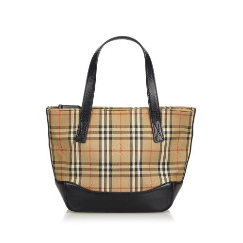 Burberry Plaid Canvas Satchel