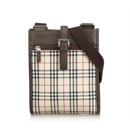 Burberry Plaid Nylon Crossbody Bag