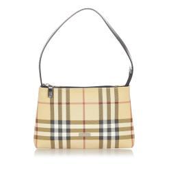 Burberry Plaid PVC Mini Handbag