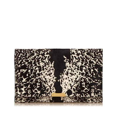 Burberry Printed Pony Hair Clutch