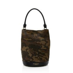 Burberry Prorsum Camouflage Suede Hobo