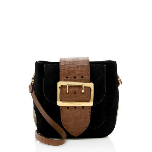 Burberry Prorsum Housecheck Buckle Crossbody Bag