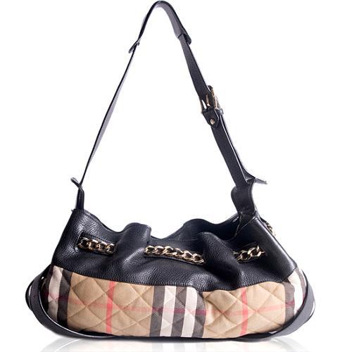 Burberry Quilted Hobo Handbag